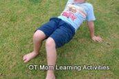 shoulder exercise for kids:  crab walk