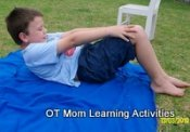 core exercises for kids - tummy curls