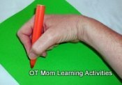 hooked wrist position for handwriting