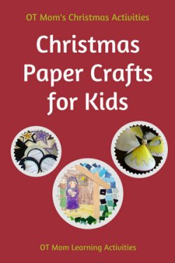 Christmas paper crafts to work on kids' fine motor and visual motor skills