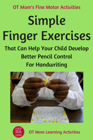 Finger Exercises To Help Kids With Handwriting