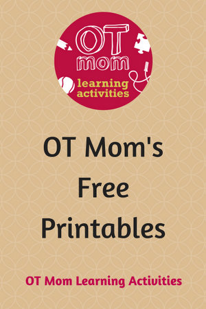 free teacher resources and printables from OT Mom