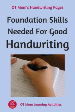 foundation skills that kids need to develop for good handwriting