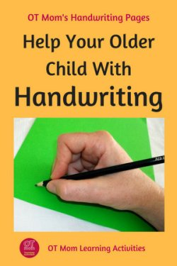 tips to improve handwriting in older kids. Black Bedroom Furniture Sets. Home Design Ideas