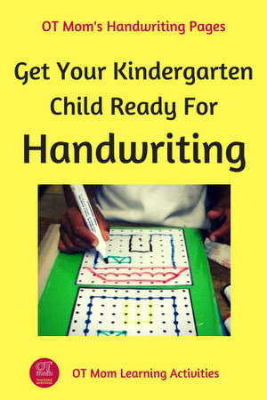 get your kindergarten child ready for handwriting