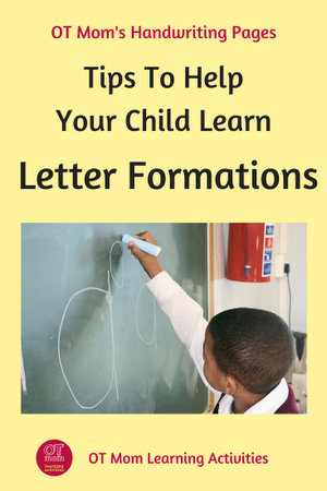 tips to help your child learn letter formations