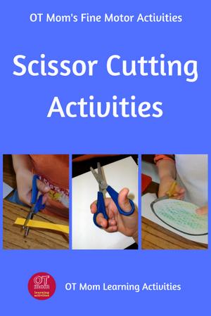 scissor cutting activities for kids