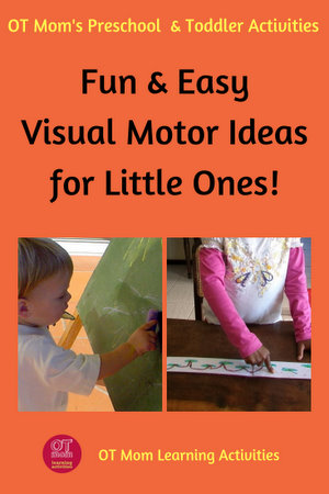 Easy visual motor activities for toddlers and preschool children!