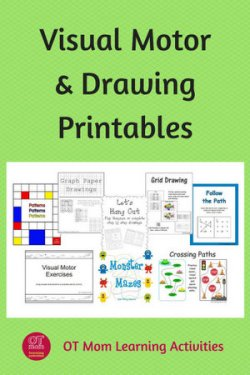 printable visual motor and drawing worksheets