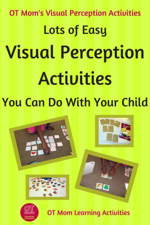 Lots of visual perception activities to help your child develop the skills needed for school!