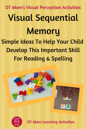 help develop visual sequential memory skills for reading and spelling