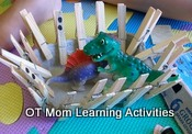 clothes peg activity preschool