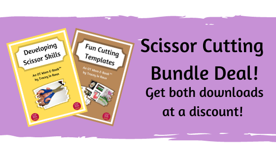scissor skills and cutting templates bundle deal