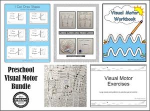 preschool visual motor worksheets