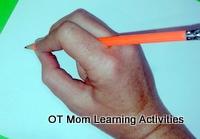 Adapted tripod (D'Nealian) pencil grip