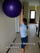 gross motor kids gym-ball exercises