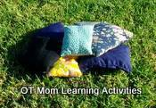Bean bags can be used to improve gross motor skills!