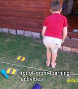 Jumping game for coordination skills