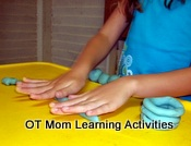 playdough learning activity
