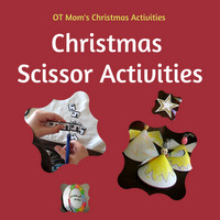Christmas scissor cutting activities for kids
