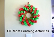 Christmas Wreath Cutting Activity