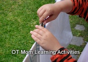 fine motor activity with clothes pegs