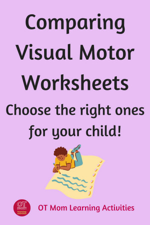 comparing different types of visual motor worksheets