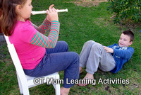 Core Exercises – kid's turn to be snake charmer