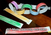 scissor cutting activity - paper chains