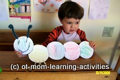 scissor cutting activity – hungry caterpillar
