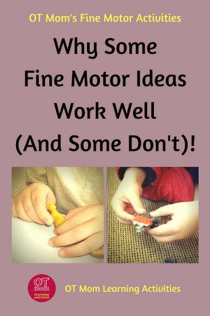fine motor skills activities - what makes some activities good?
