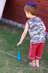 gross motor activities balancing along line 2