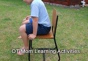 kids chair push ups