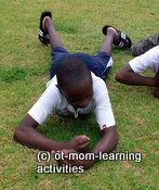gross motor activities leopard crawl