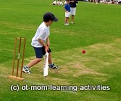 hand-eye coordination skills kids cricket