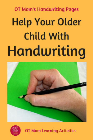tips to help your older child with handwriting