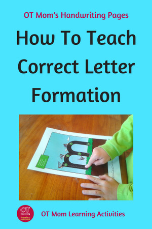 how to teach correct letter formation