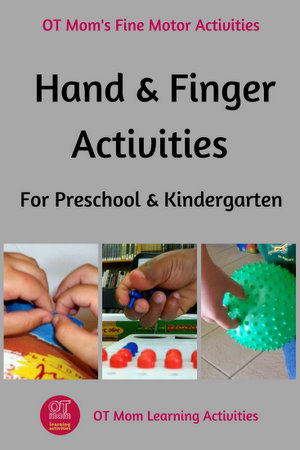 The aim of these kindergarten hand exercises and activities is to help develop your child's fine motor skills. Preschool and Kindergarten kids need lots of ...