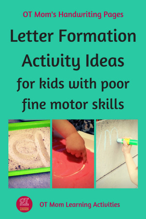 Letter Formation Activities for Kids With Poor Fine Motor Skills