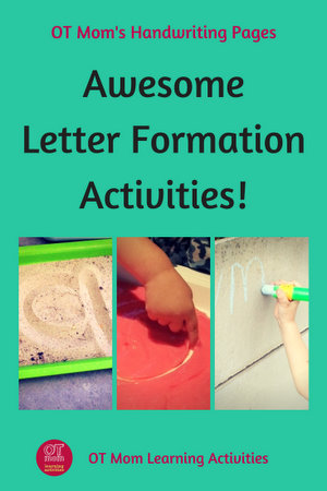 fun activities and ideas to help your child with letter formations