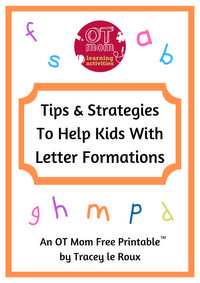 Letter Formation Tips and Strategies