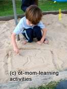 Number formations in sand