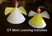 easy christmas paper angels for kids to make