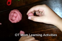 finger exercise with playdough