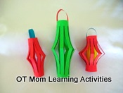 Christmas Paper Lanterns Cutting Activity