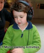 wearing headphones for sensory integration