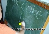 spelling on a blackboard