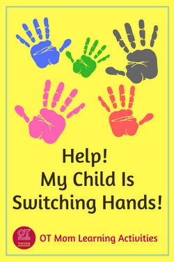 Is your child switching or swapping hands during fine motor tasks? This article may help.