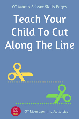 help your child learn to cut along the line