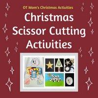 Christmas scissor cutting activities for kids
